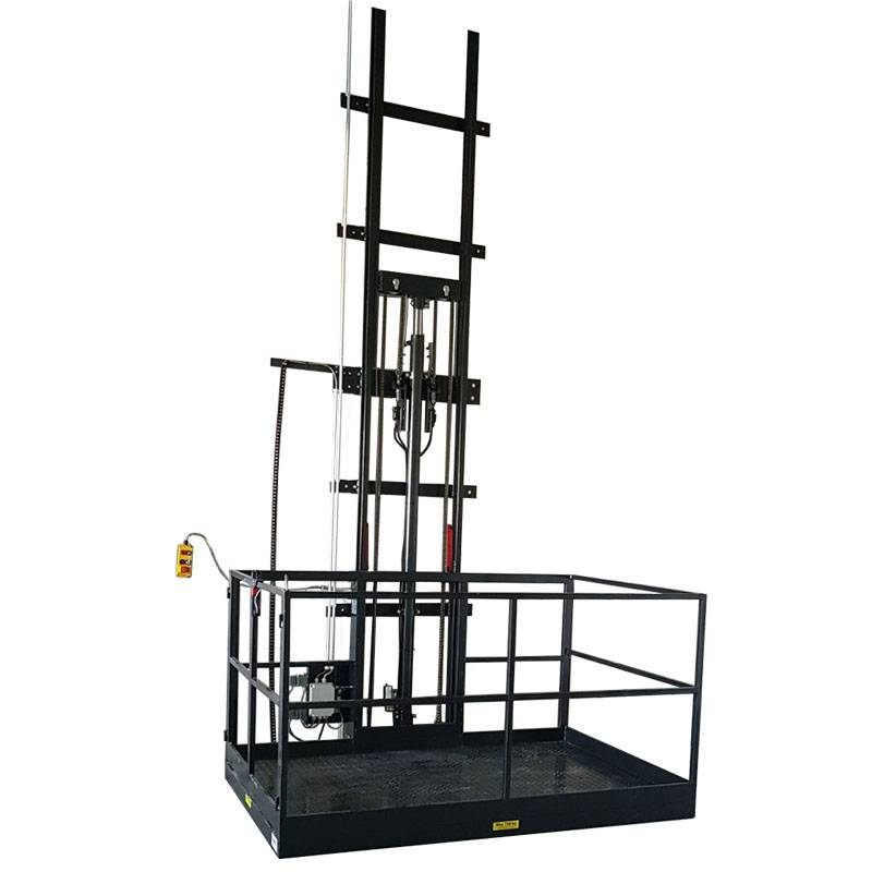New Style China Two Rails Vertical Cargo Lift