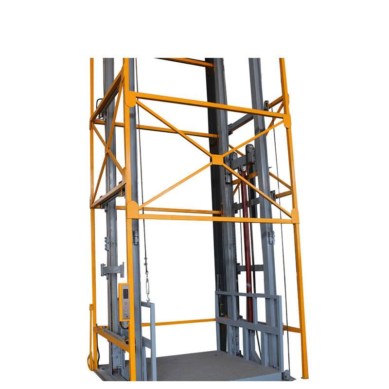 Four Rails Vertical Cargo Lift