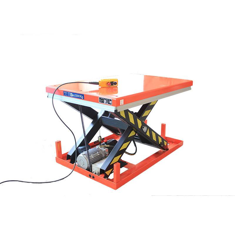8 Year Exporter Hydraulic Work Table – Single Scissor Lift Table – Daxin