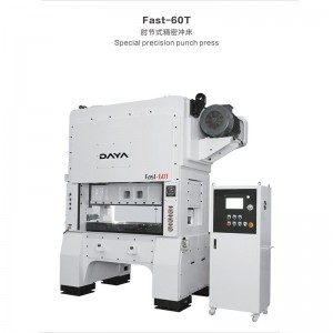 Factory Price For C Frame Double Point Mechanical Press Machine - Toggle Joint High Speed Press (Fast series) – Daya