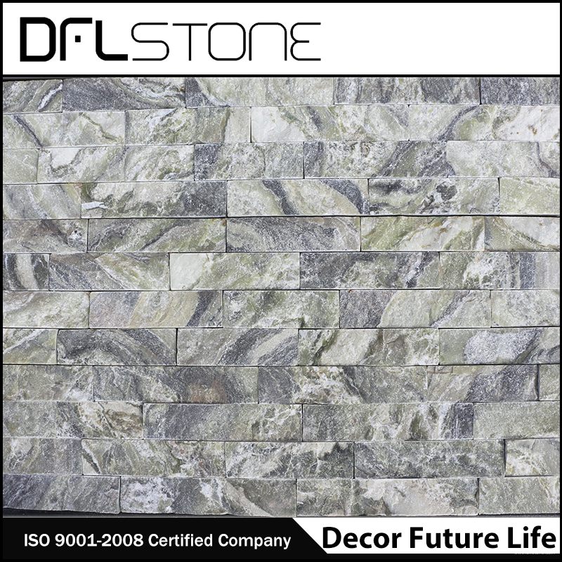 Low Price Natural Green Marble Cultured Stone P...