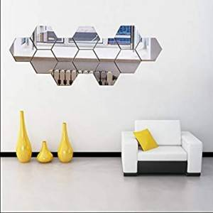 Modern Design 3D Mirrored Wall Decals Acrylic Mirror Wall Sticker for Home Decoration