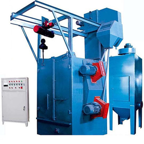 Hanger type shot blasting machine/rust removal equipment/shot blastler of cleaning steel parts from factory
