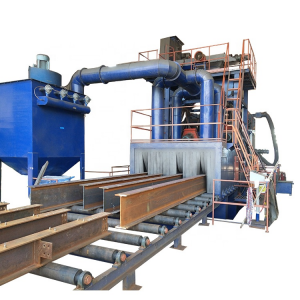 Roller Conveyor Type Shot Blasting Machine for H beam