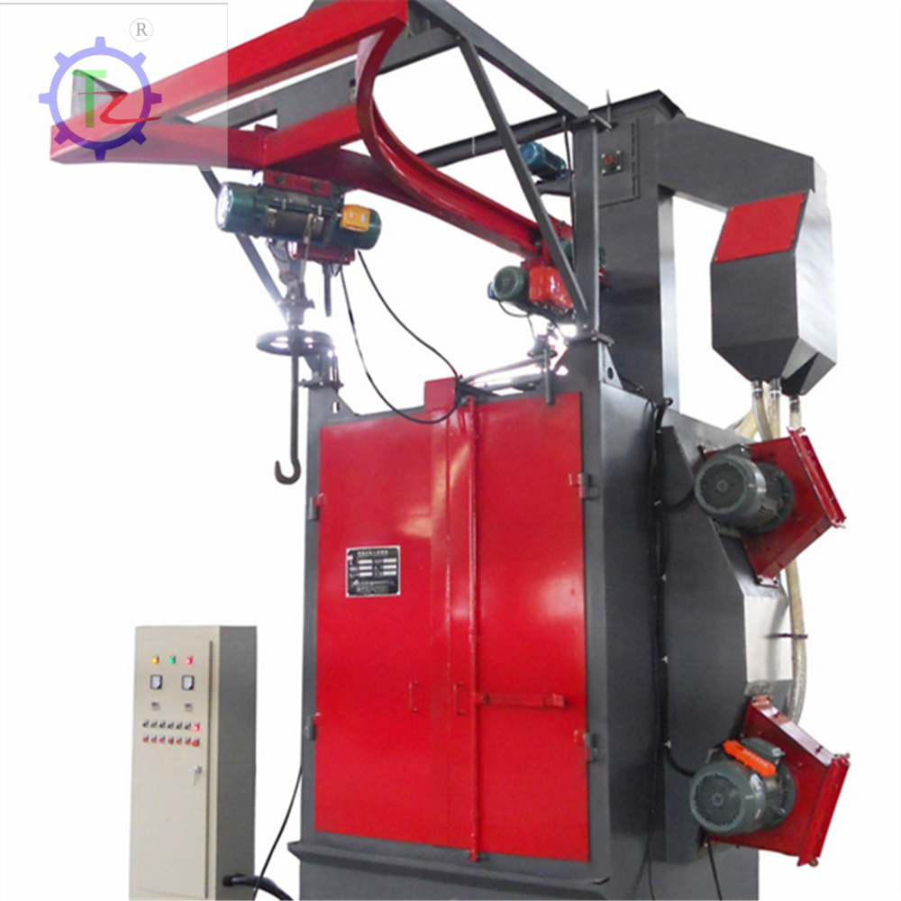 Heat-treated pieces hook type shot blasting machine, Electric hook type shot blasting machine dust cleaning equipment