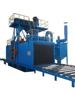 Q69 Series Continuous Roller conveyor Steel Plate Shot Blasting Machine