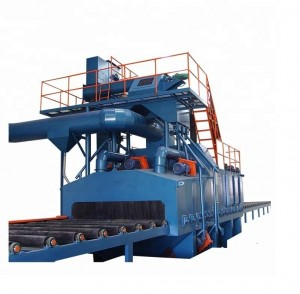 Through Type Shot Blasting Machine for Strenthening Steel Plate Structure