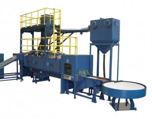 Factory manufactuerers direct wholesale retail roller track type shot blasting machine