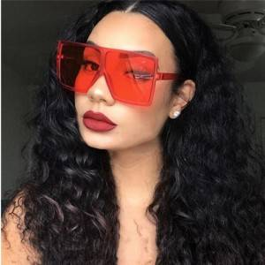 DLL17059 Big Square Oversized Shades Woman Sunglasses
