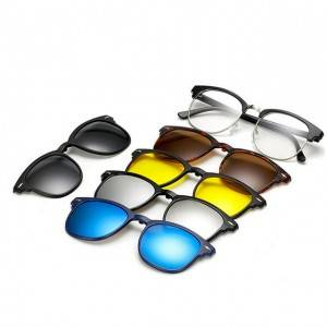 China Gold Supplier for Varifocal Sports Sunglasses - DLC2218A  Half Rim Clip on 5 in 1 Sunglass...