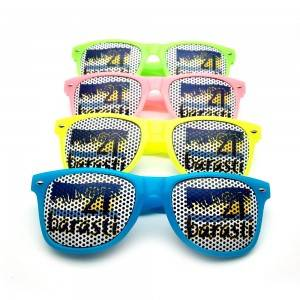 China Cheap price Fashion Big Sunglasses - wholesale Promotional Pinhole Sticker Sunglasses R...