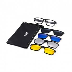 OEM/ODM Supplier Oversized Square Sunglasses - DLC2256A TR90 Frame Clip on 4 in 1 Sunglasses ...
