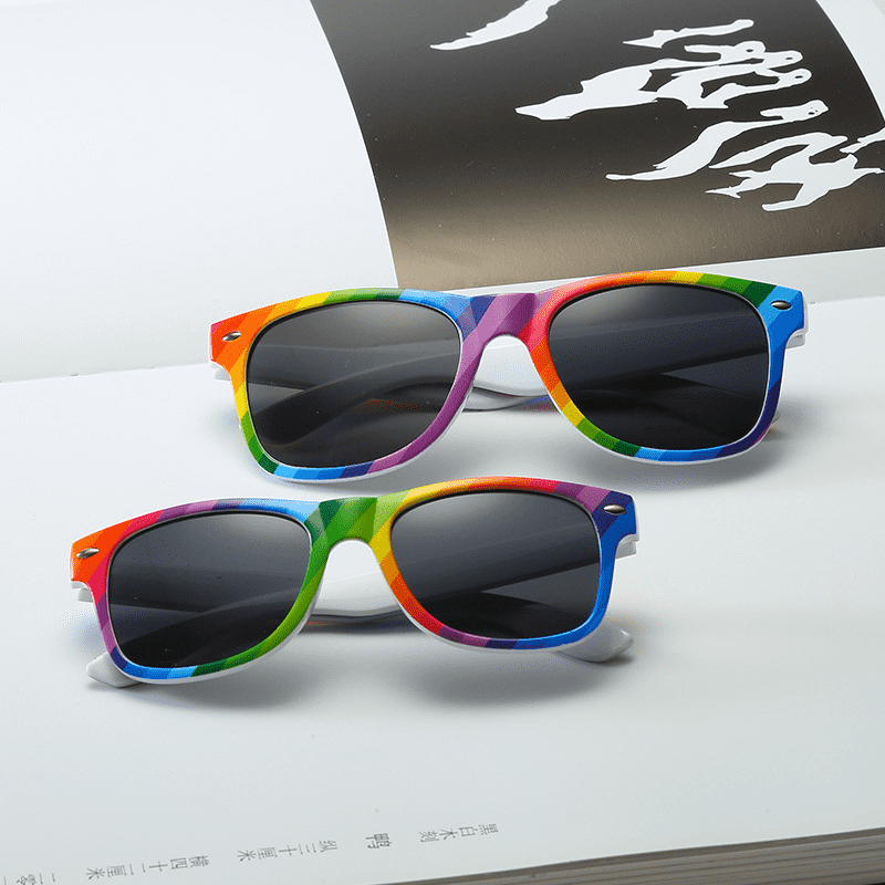 Super Lowest Price Retro Style Sunglasses - DLC9001RB Color Run Sunglasses – D&L