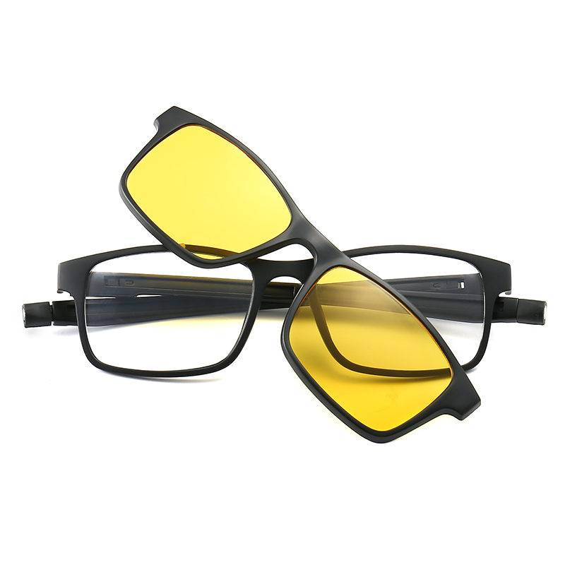 High Quality Prosport Sunglasses - DLTR2503A  Rectangle TR90 Clip on 5 in 1 Sunglasses – D&L