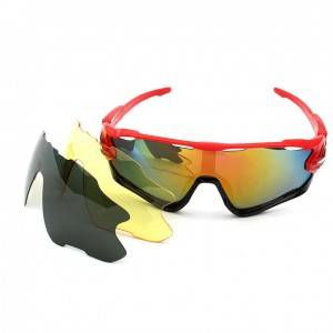 Newly Arrival Torege Glasses - 9270 Men's Polarized Outdoor Bicycle Sunglasses with 3pcs l...