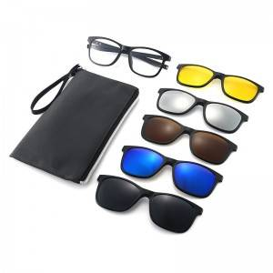 Polarized TR90 Frame Clip on 5 in 1 Sunglasses