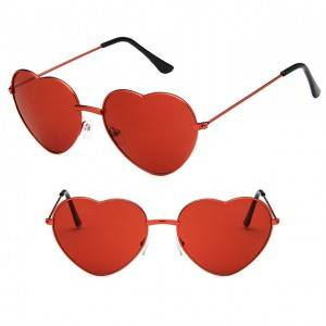 Short Lead Time for Orange Blue Light Blocking Glasses - DLL014 Classic love heart shaped sungla...