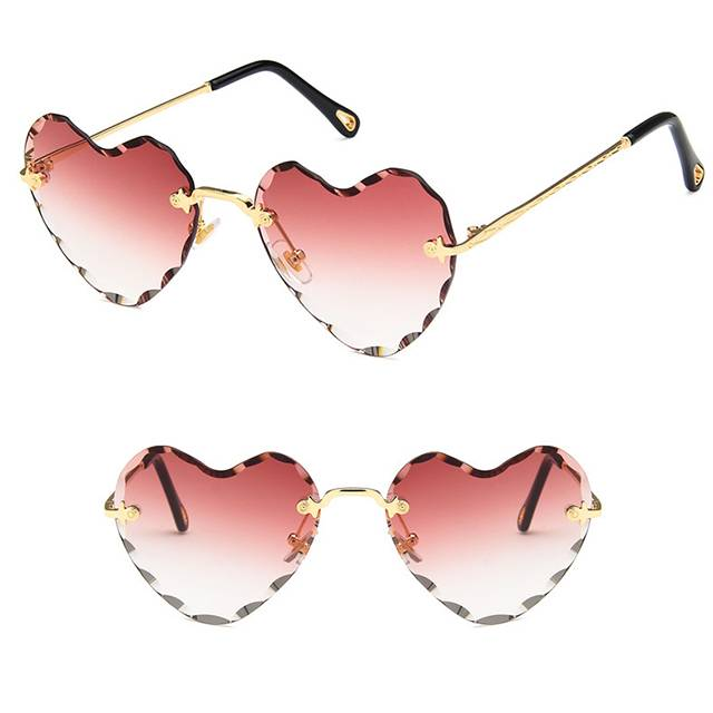 China New Product Mr Price Sport Sunglasses - DLL8705 Heart Shaped Metal Women Sunglasses – D&L