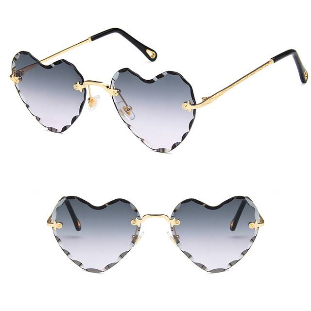 China New Product Mr Price Sport Sunglasses - DLL8705 Heart Shaped Metal Women Sunglasses – D&L detail pictures
