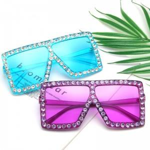 Factory selling Circle Sunglasses Men - DLL82548 bling bling Crystal sunglasses – D&L