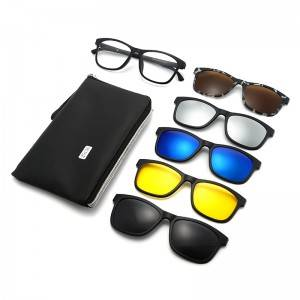 5 in 1 Magnetic Clip On Polarized Sunglasses