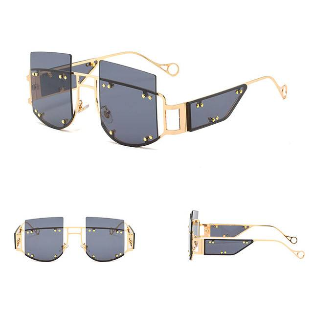 Wholesale Price Gold Clear Lens Glasses - DLL901 Oversized Luxury Unisex Sunglasses  – D&L