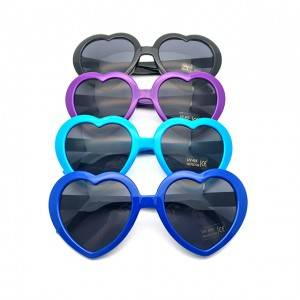 High Performance Black Sunglasses For Women -  DLC9018 Heart Shape Custom Sunglasses – D&a...