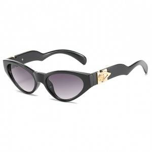 100% Original Factory Cartier Santos Sport Sunglasses - DLL4373 Retro Vintage Narrow Cat Eye Sun...