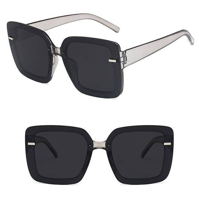 OEM Supply Sport Spectacles With Power - DLL6048 Fashion Large Square Sunglasses – D&L Featured Image