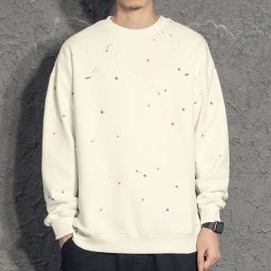 2021 Newest fashion FIT USA dot printing crafting men's crewneck