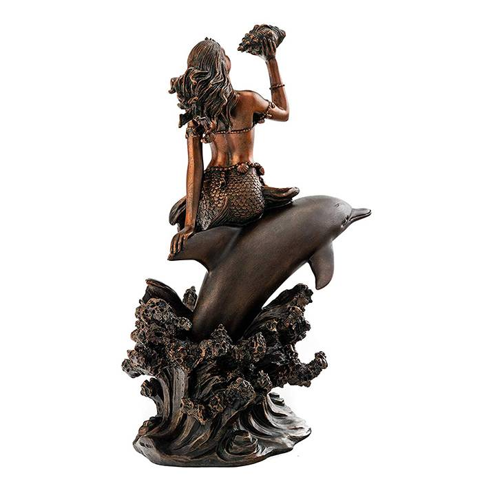 Short Lead Time for Lanceray Bronze Sculpture - Life Size Animal Statue Metal Craft Bronze Statues of Dolphins And Mermaids – Atisan Works