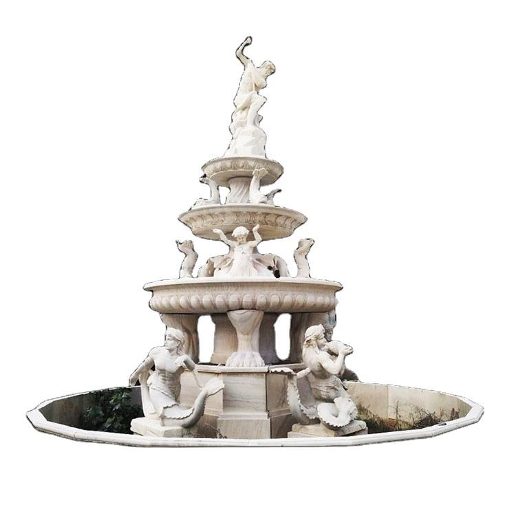 Hot sales modern stone outdoor marble water fountain