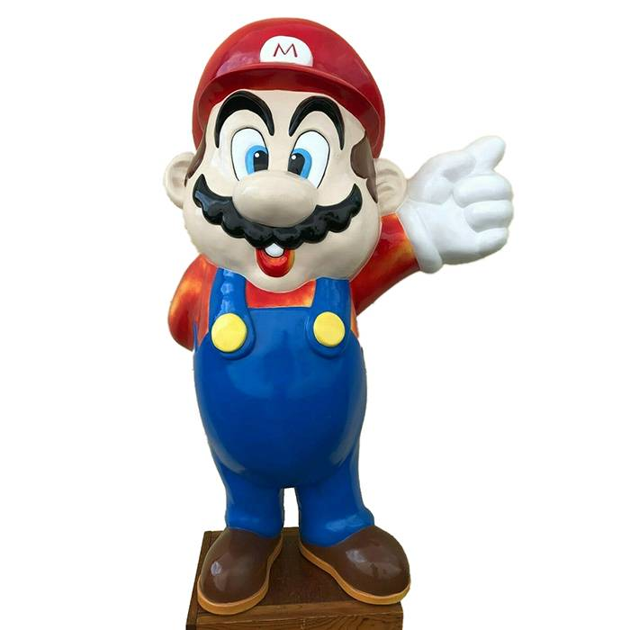 Leading Manufacturer for Resin Animal Sculptures - fiberglass cartoon character sculpture super mario life size statue – Atisan Works