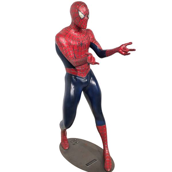 Life size fiberglass cartoon character sculpture spiderman statue