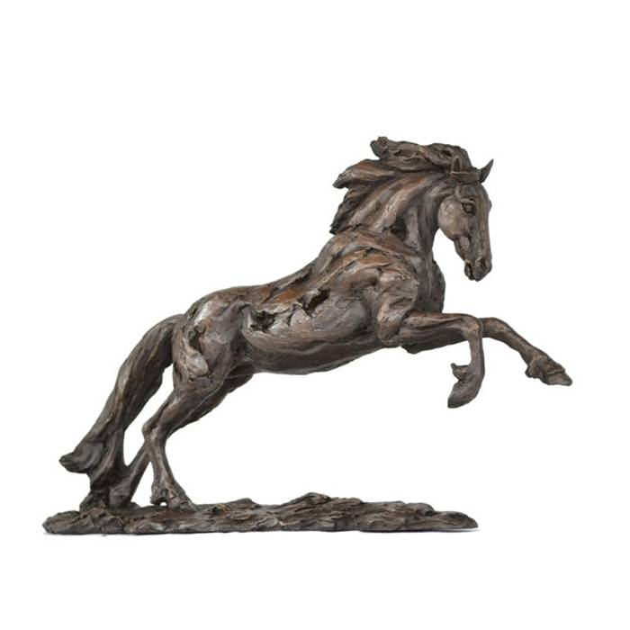 Large Outdoor Sculpture Garden Life Size Cast Bronze Running Horse Statues