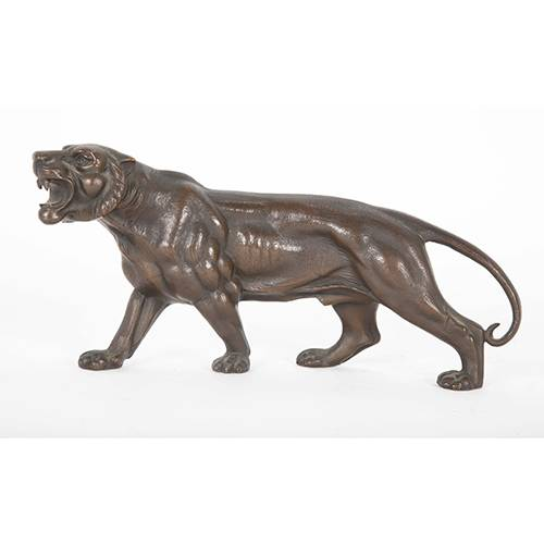 18 Years Factory Bronze Bear Sculpture - Zoo decoration metal casting animal statue life size  bronze tiger sculpture on sale – Atisan Works