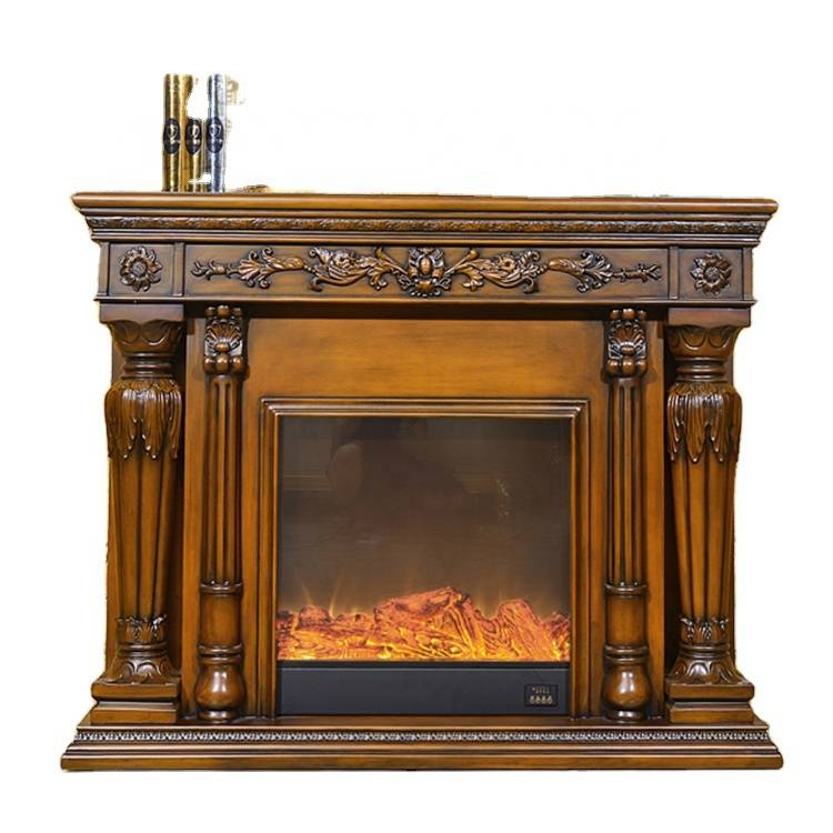 European Indoor Home Decorative Type Resin Victorian Electricity Fireplace with Remote Control
