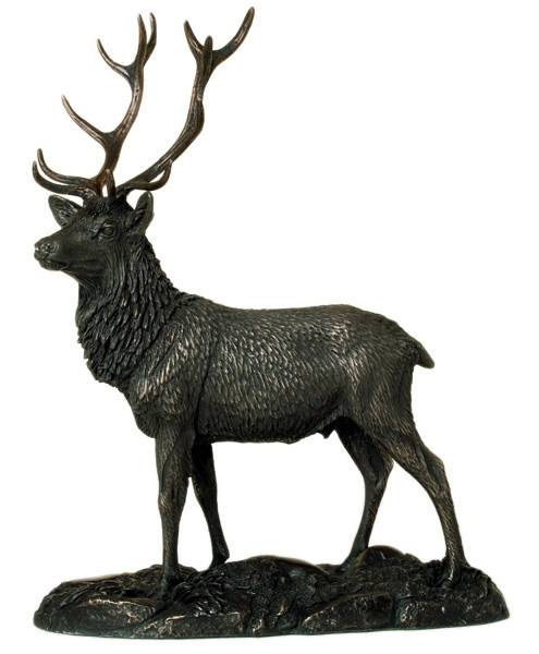 Park and  garden decoration animal sculpture modern life-size bronze stag statues