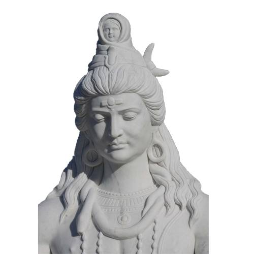 High Quality Outdoor Decorative Garden Life Size Indian Marble Lord Shiva Statue For Decor