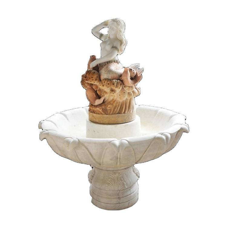 Ornaments outdoor stone garden dancer water fountain for hotel