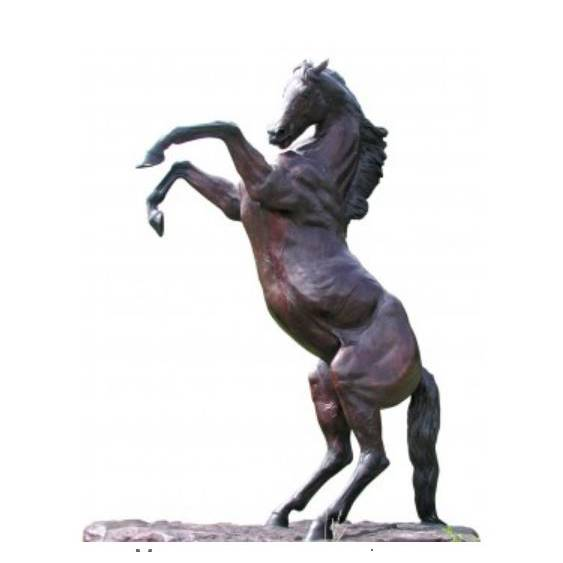 Hot sale popular garden large life size bronze standing horse statue