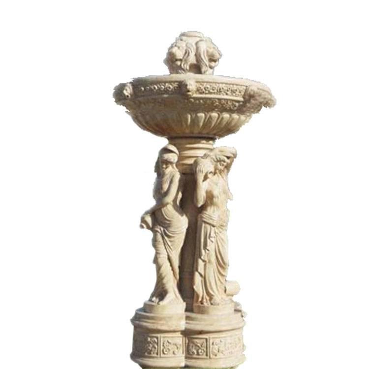 Garden and courtyard decoration white Hunan marble outdoor water fountains