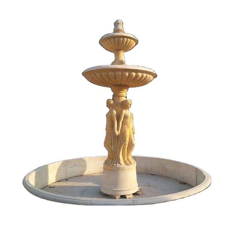 China garden decoration marble large outdoor water fountain