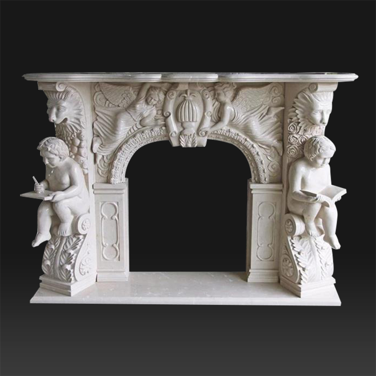 Unique design indoor royal fireplace electric indoor hand carved marble fireplace electric
