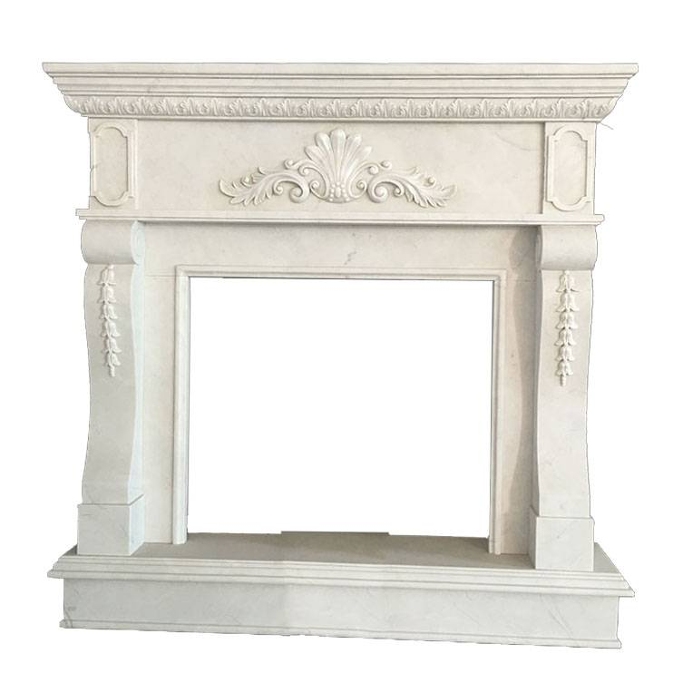 European cultured indoor classic american style Modern fancy Stone Marble Wall Marble Fireplace