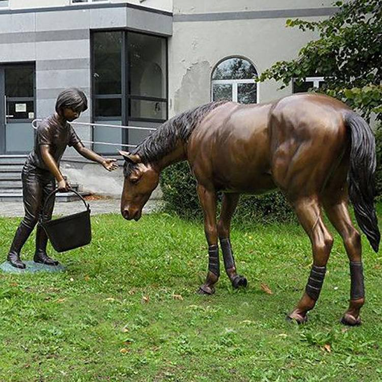 factory low price Dancing Girl Bronze Statue - Garden bronze sculpture angel horse  sculpture animal garden statues – Atisan Works