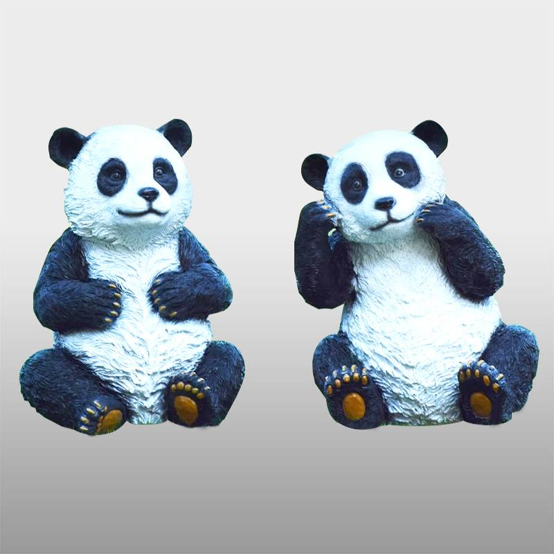 Renewable Design for Garden Art Sculpture - Factory custom handmade carved panda statue resin  life size – Atisan Works