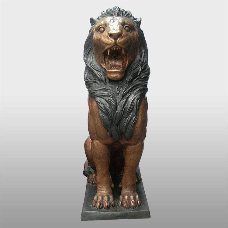 Home decoration bronze african lion sculpture bronze animal statues