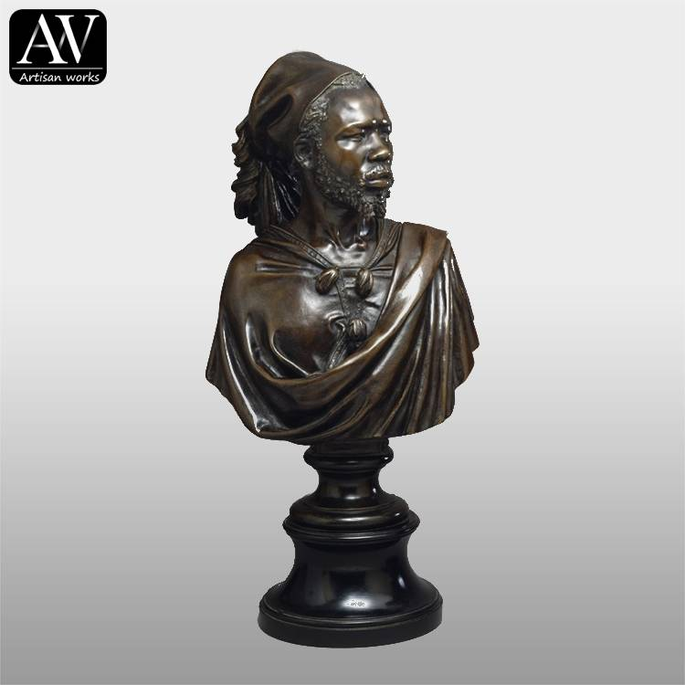 factory low price Dancing Girl Bronze Statue - Hot sale african female bust head bust sculpture  for decoration – Atisan Works