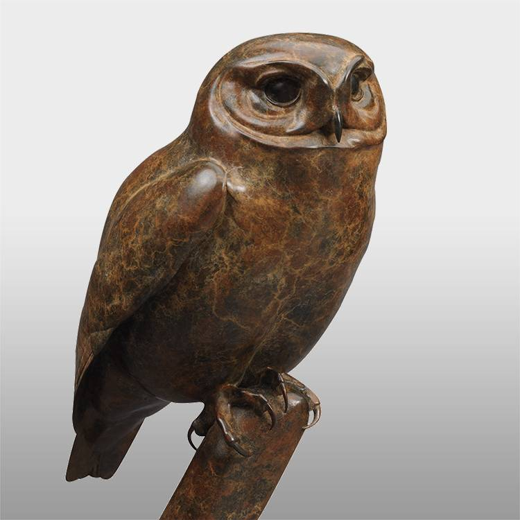 Factory Free sample Antique Brass Statue - Garden decoration custom life size  outdoor bronze owl sculpture – Atisan Works